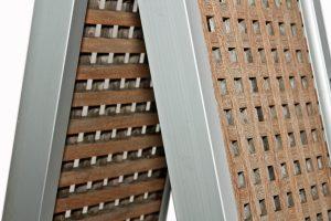 passerella pieghevole in carabottino di legno teak