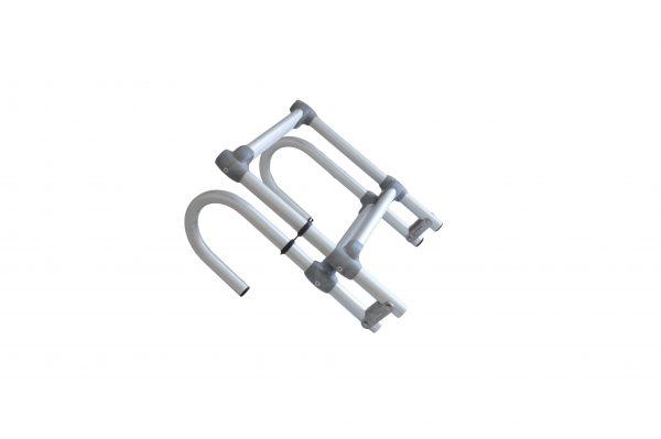 scaletta ribaltabile in alluminio con attacco a 180°