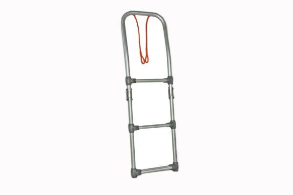 scaletta ribaltabile in alluminio con attacco per gommone