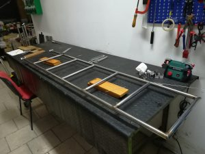 realizzazione plancetta di poppa con scaletta/passerella