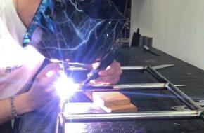 saldatura passerella in alluminio