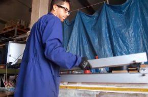 montaggio passerella in alluminio
