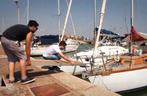 montaggio passerella su barca