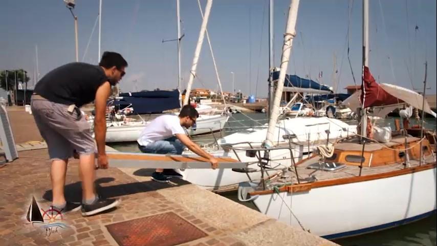 passerella per barca, fase di montaggio